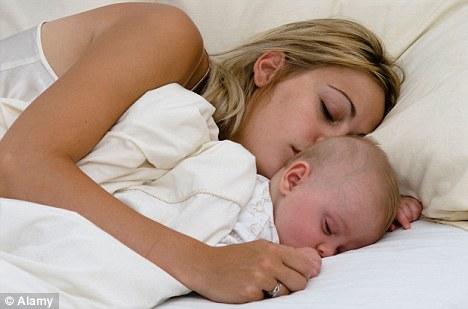 До 3-х мама и ребенок спят вместе