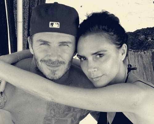 17 мая 2013 Дэвид и Виктория Бекхэм в твиттере