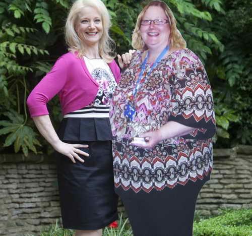 Сью Томпсон до и после похудения