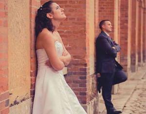 Невеста и жених в ссоре